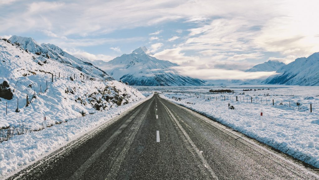 New Zealand winter road